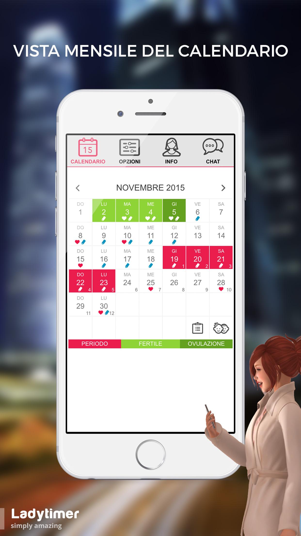 Calendario Dell Ovulazione.Calendario Di Ovulazione Android Gratuito